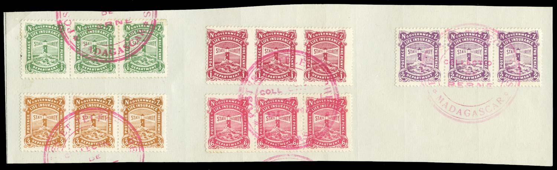 NEW ZEALAND 1913  SGL24/31 btwn Specimen