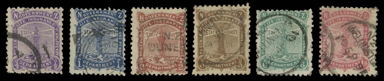 NEW ZEALAND 1891  SGL1/6 Used