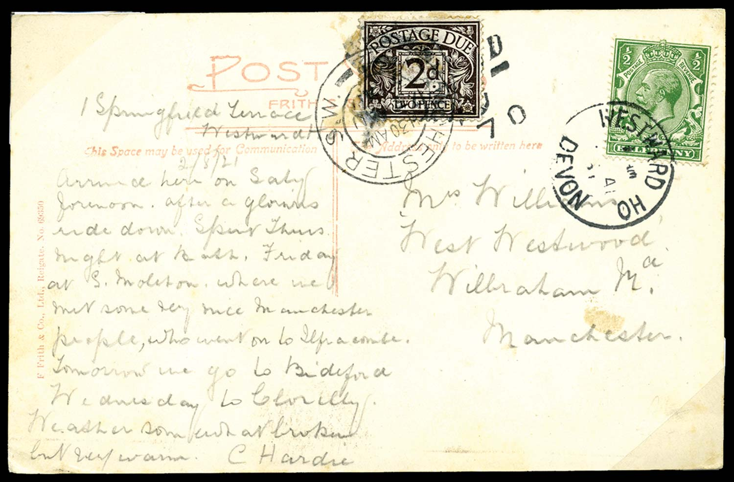 GB 1921  SG351,D4 Postage Due