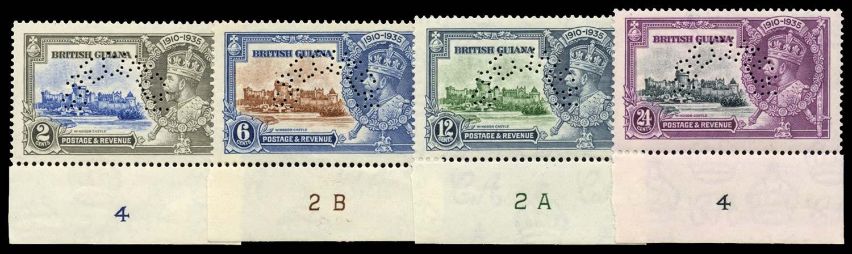 BRITISH GUIANA 1935  SG301s/4s Specimen