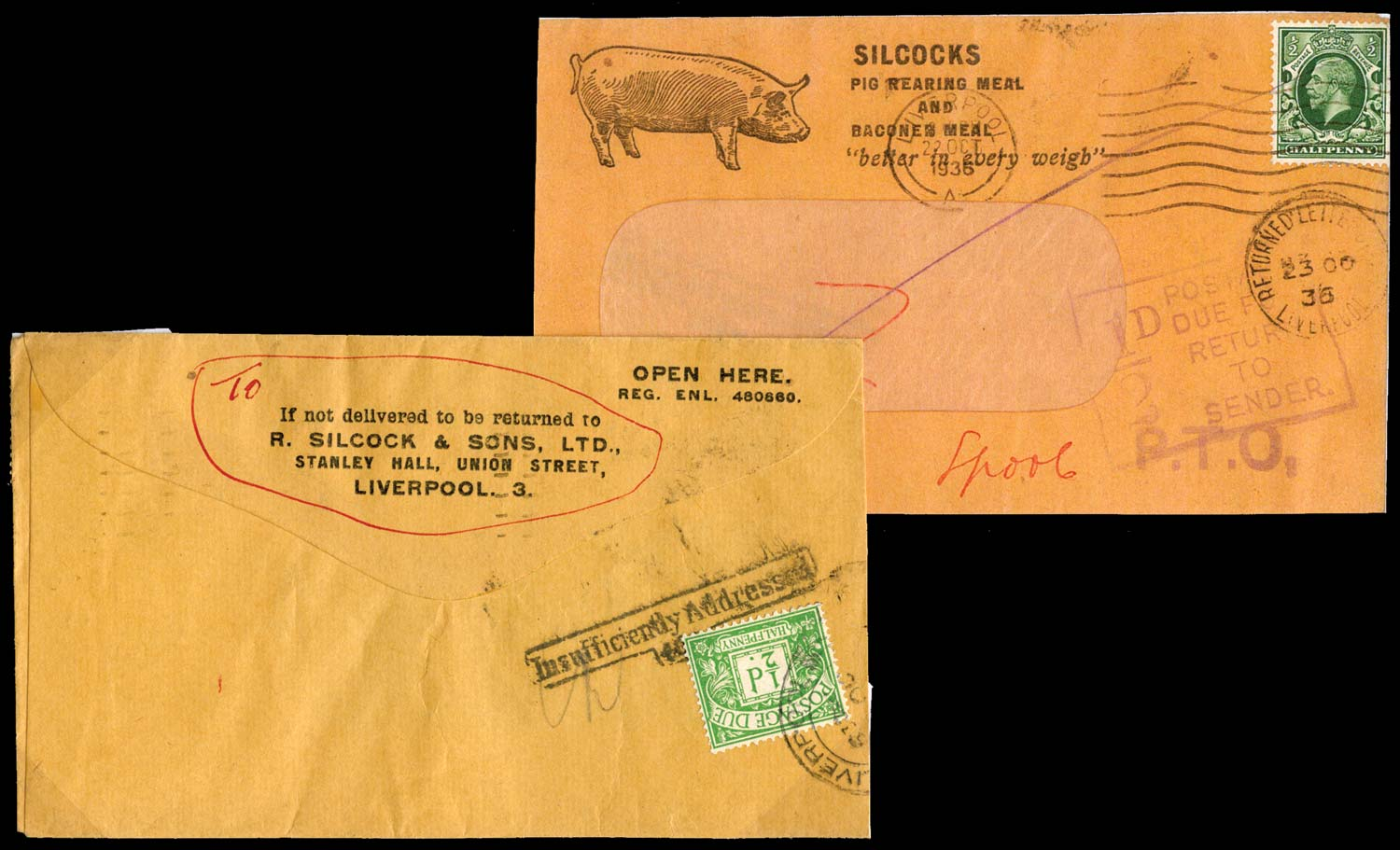 GB 1936  SG439,D10 Postage Due