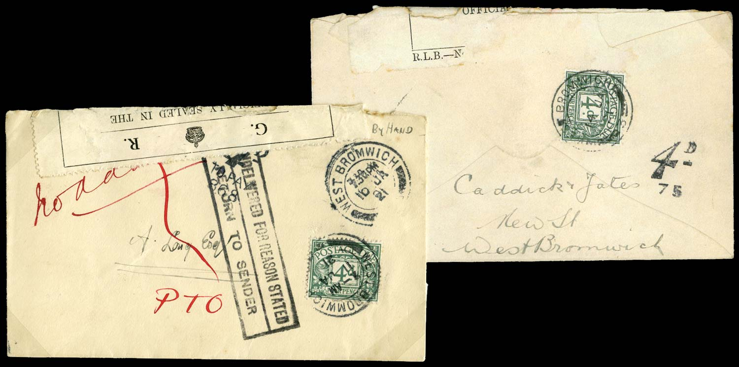 GB 1921  SGD6 Postage Due