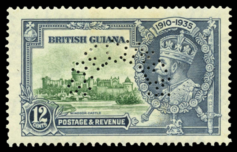 BRITISH GUIANA 1935  SG303fs Specimen