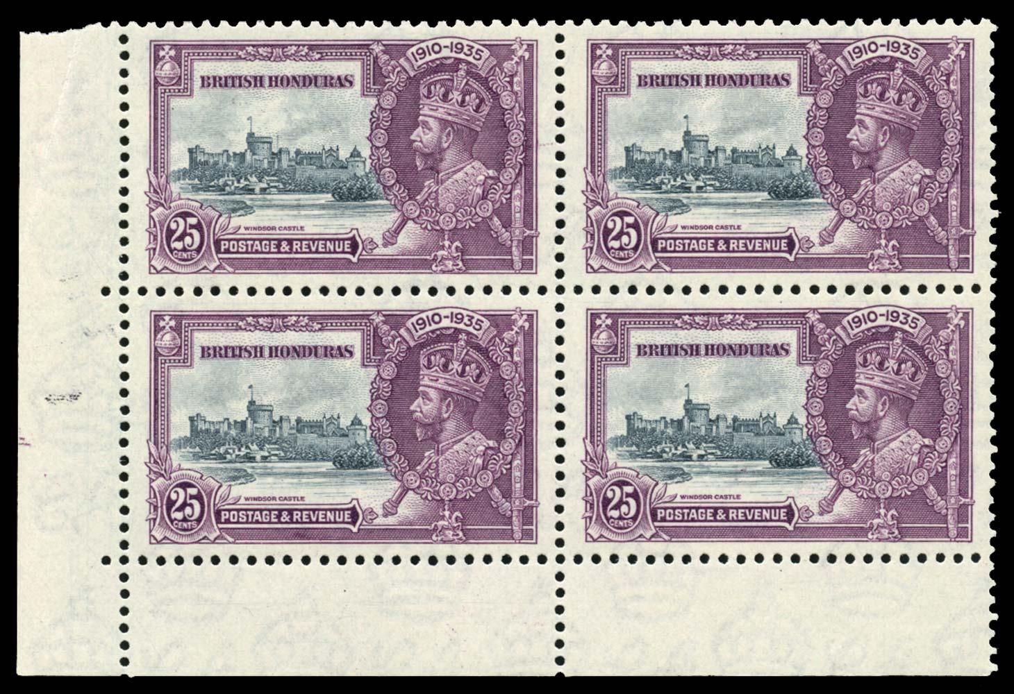 BRITISH HONDURAS 1935  SG146/a Mint Extra Flagstaff