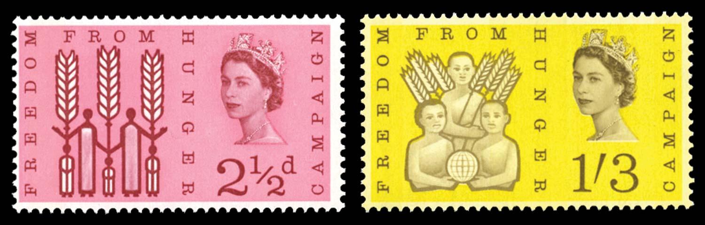 GB 1963  SG634/5p Mint
