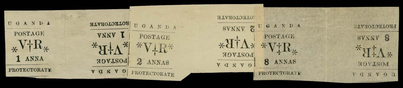 UGANDA 1896  SG55/6, 59var Mint