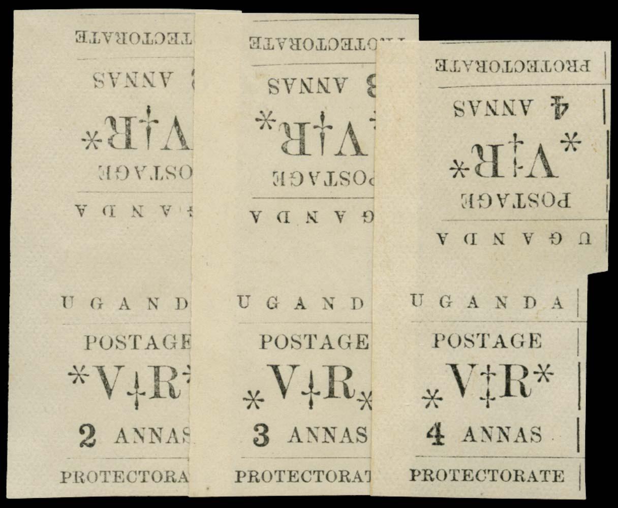UGANDA 1896  SG56/8 var Mint