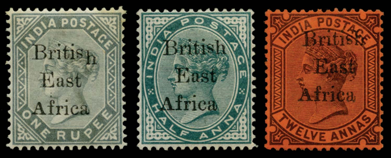 BRITISH EAST AFRICA 1895  SG49, 58/9 var Mint
