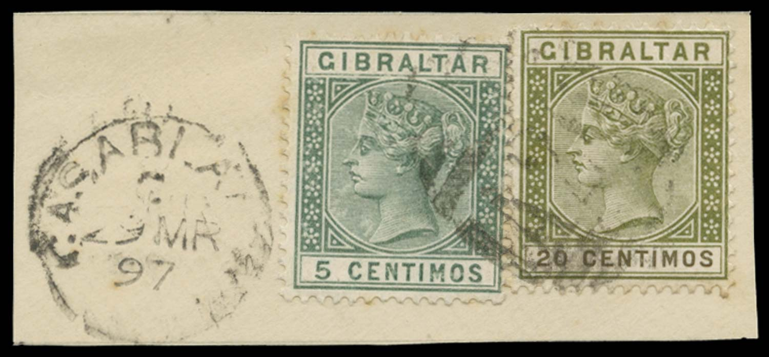 MOROCCO AGENCIES 1897  SGZ18, 20 Cancel