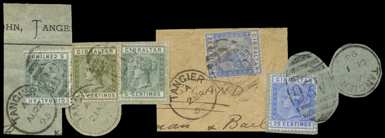MOROCCO AGENCIES 1889  SGZ141,143,145 Cancel