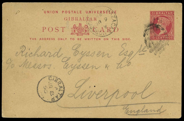 MOROCCO AGENCIES 1895  SG. Cover
