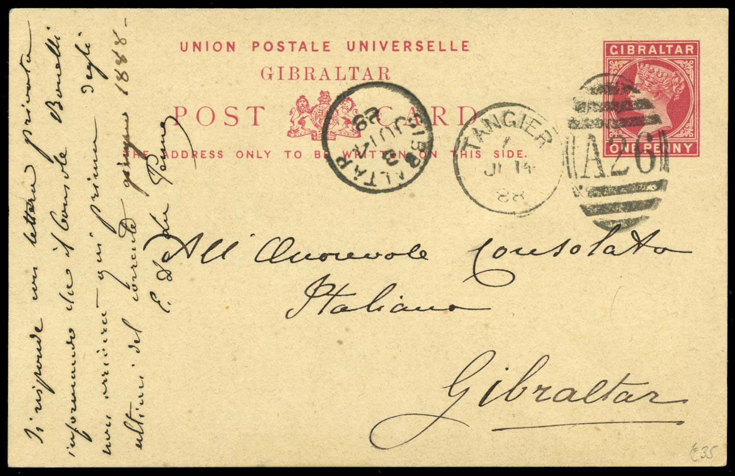 MOROCCO AGENCIES 1888  SG. Cover