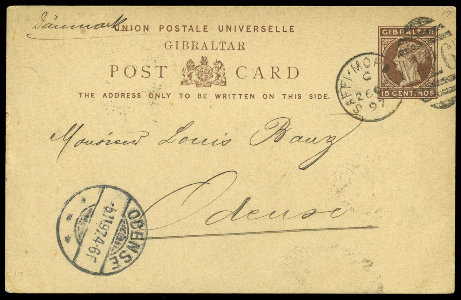 MOROCCO AGENCIES 1897  SG. Cover