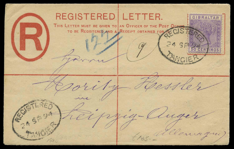 MOROCCO AGENCIES 1894  SGZ147 Cover