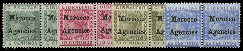 MOROCCO AGENCIES 1899  SG9b/12b Mint
