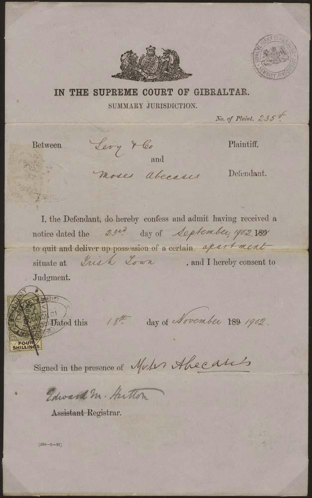 GIBRALTAR 1902 Revenue