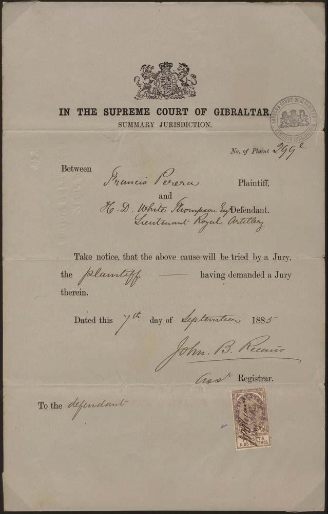 GIBRALTAR 1885 Revenue