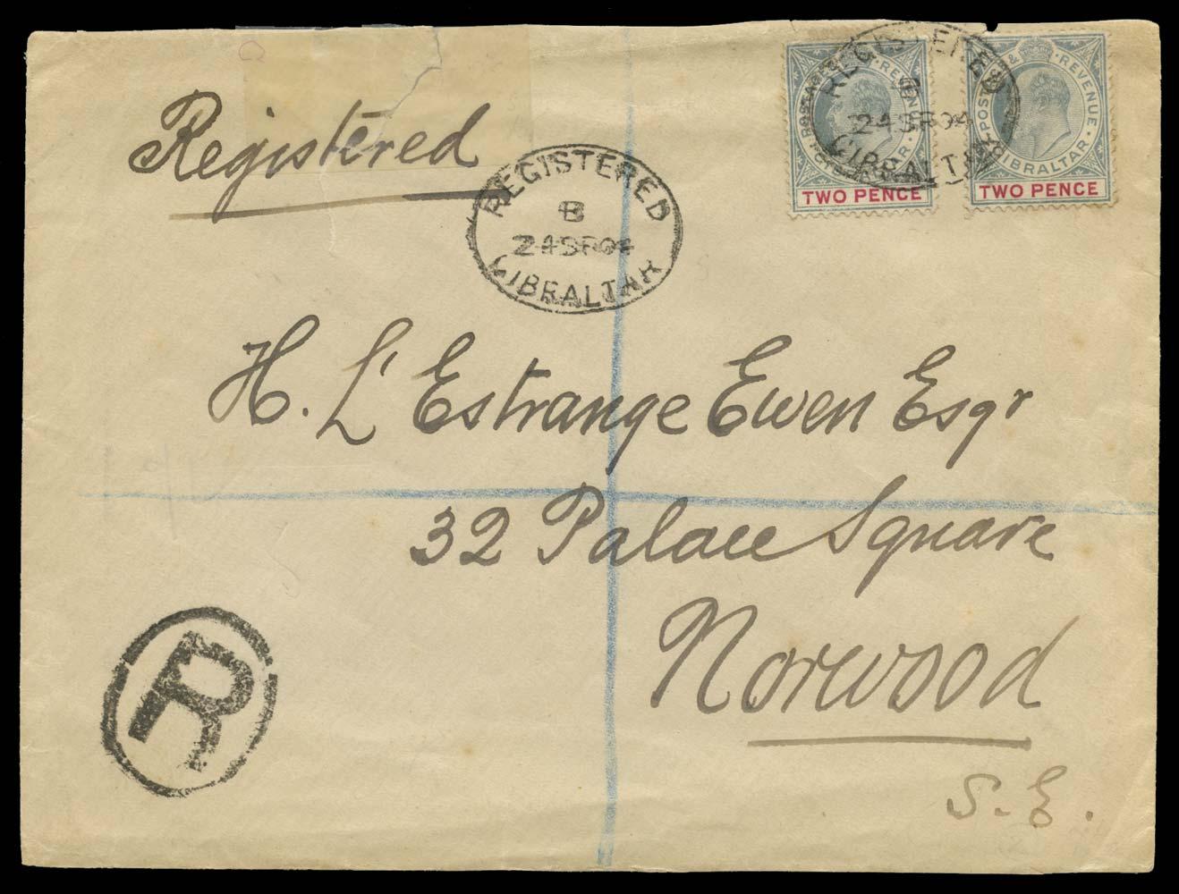 GIBRALTAR 1904  SG48 Cover