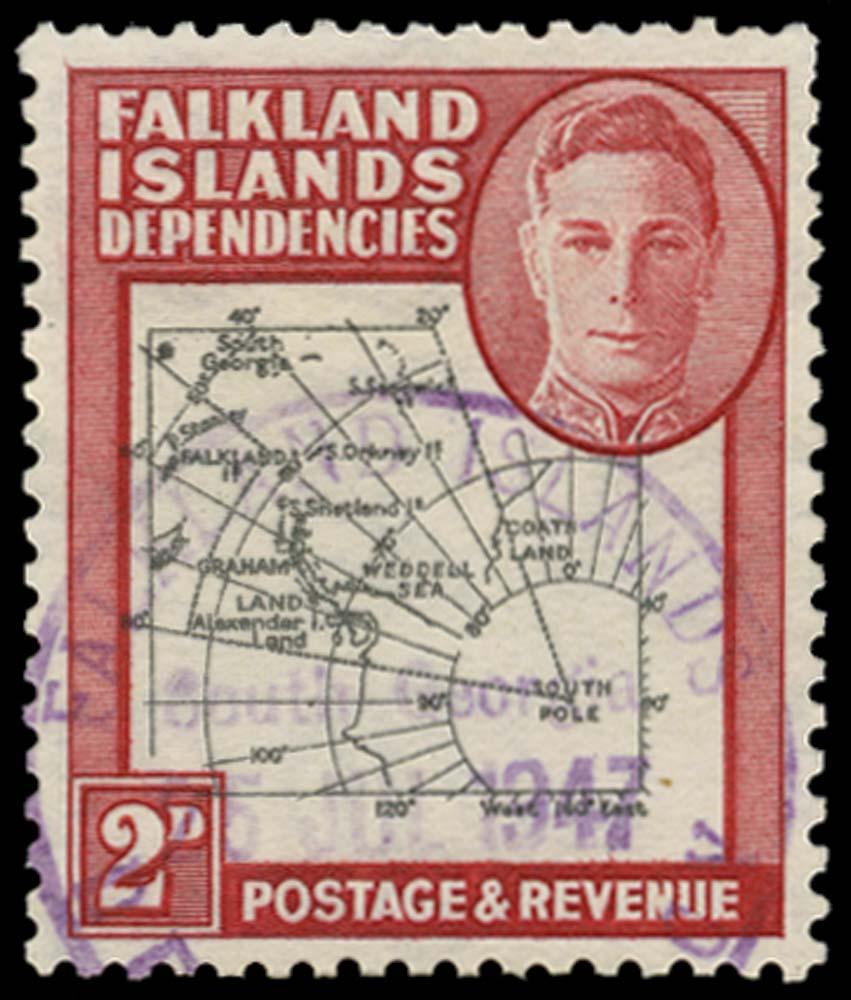 FALKLAND ISLAND DEPS 1946  SGG3aa Used