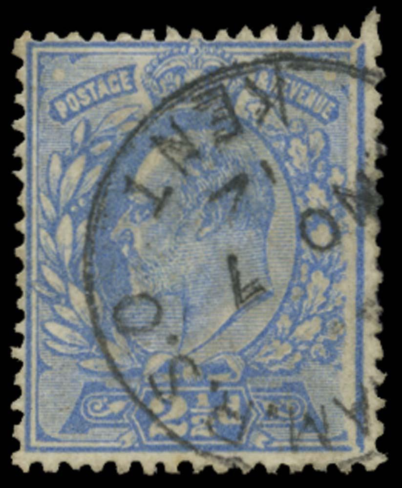 GB 1911  SG284var Used Gillingham R.S.O. Frame broken at right