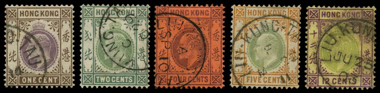 HK BRIT PO IN CHINA 1903  SGZ1055/8,1061 Cancel