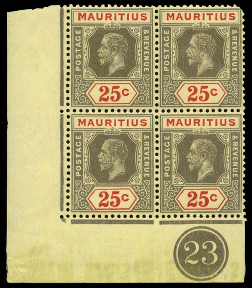MAURITIUS 1921  SG236a Mint