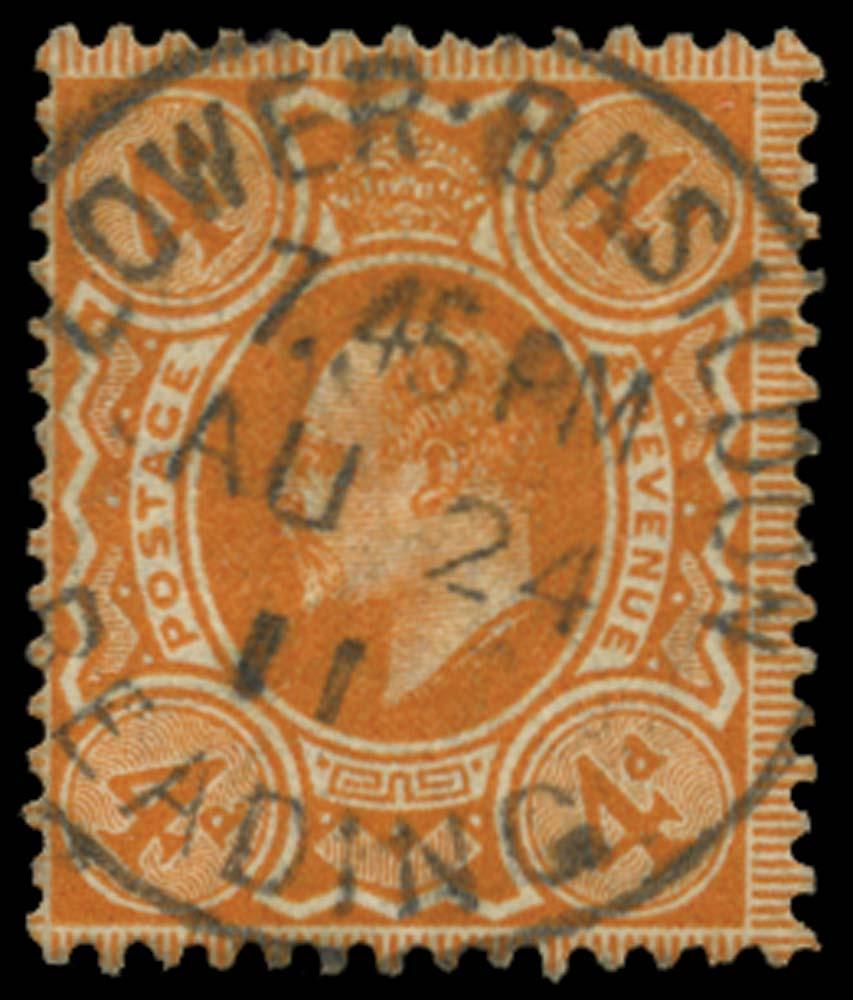 GB 1911  SG278var Used Lower Basildon, Reading cds