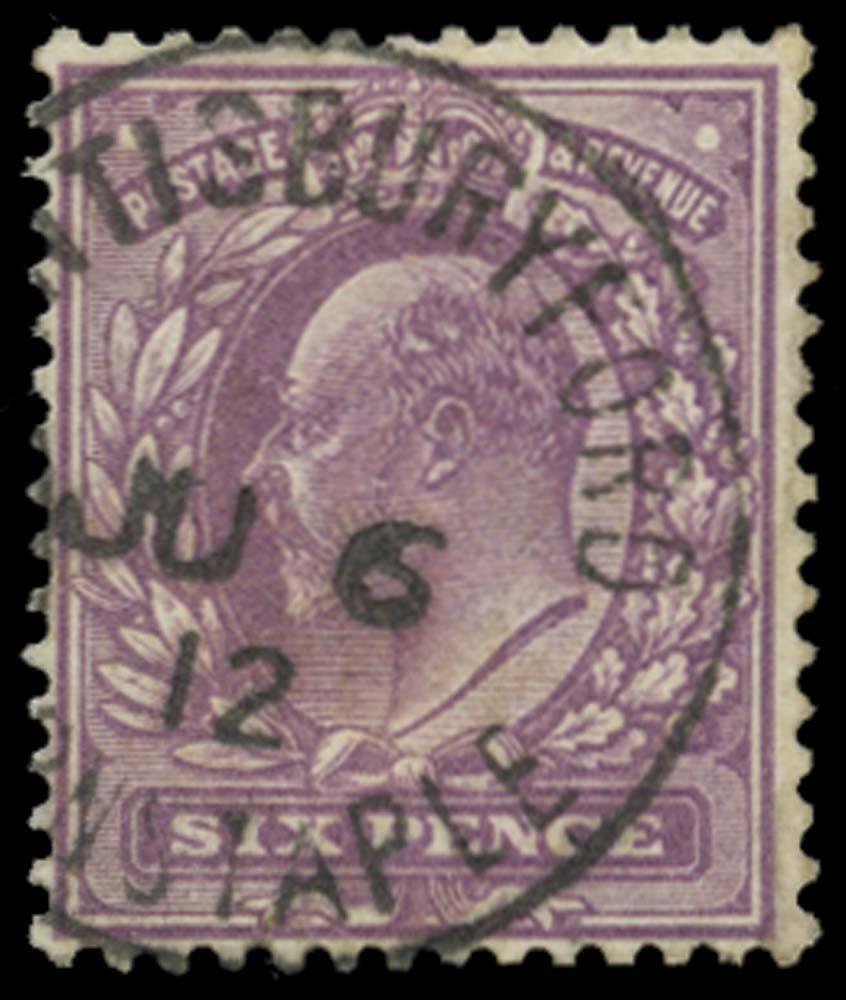 GB 1911  SG297var Used Dull Lilac (F) Kentisbury Ford cds
