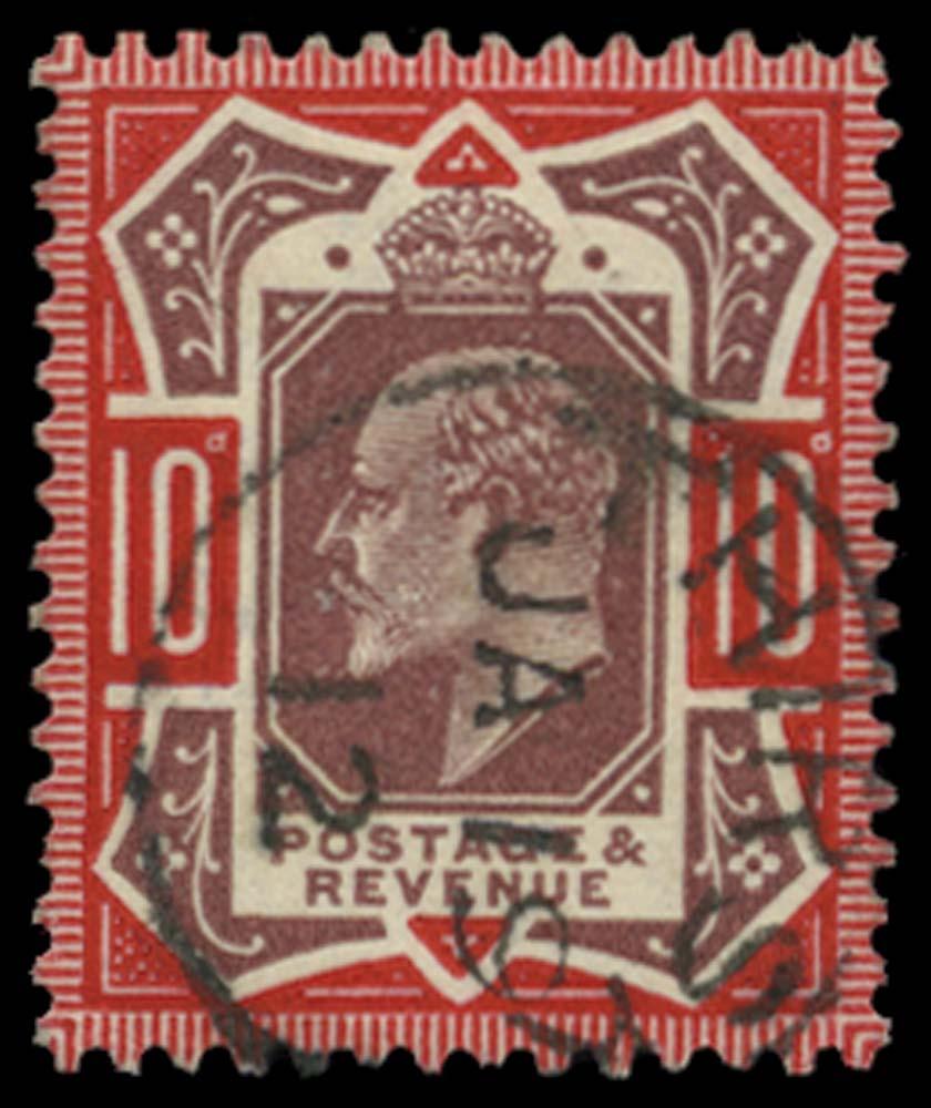 GB 1911  SG309var Used Thirsk cds