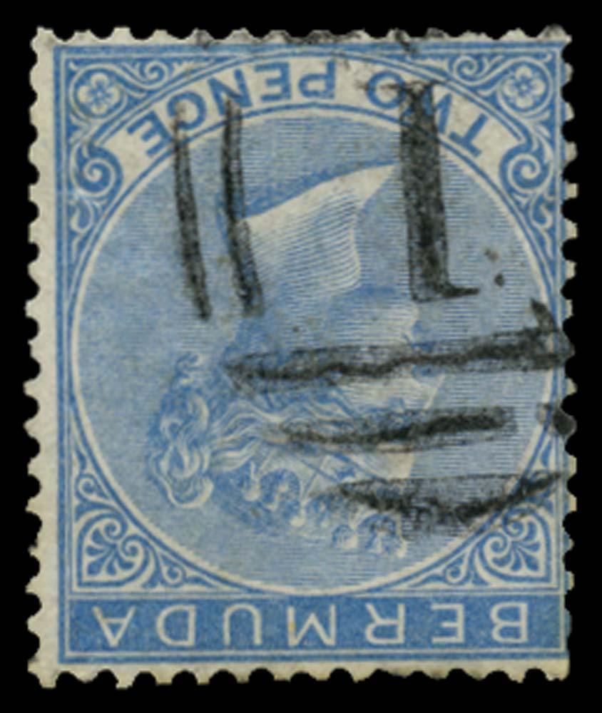 BERMUDA 1865  SG4w Used