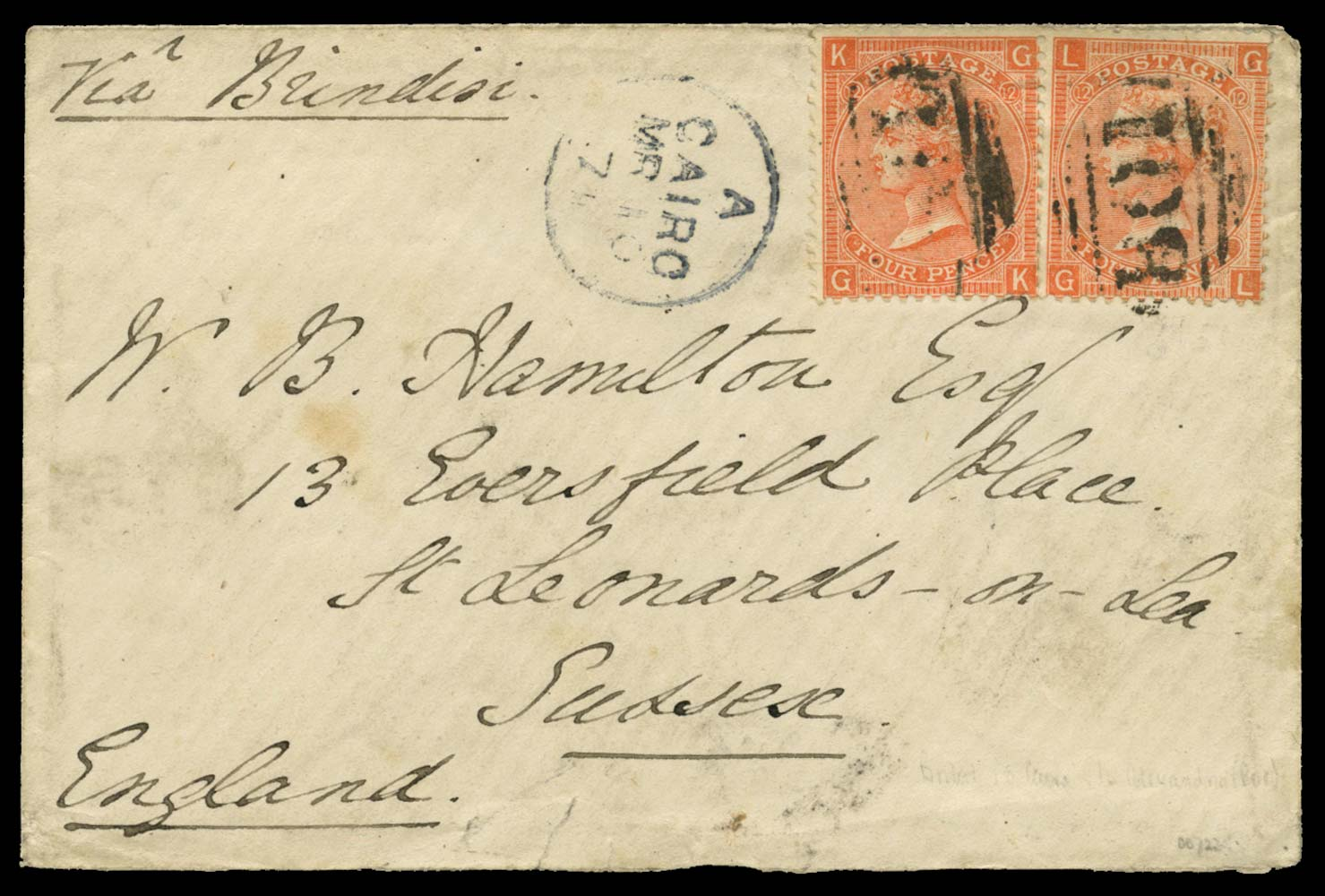 EGYPT 1871  SGZ17 Pl.11 Cover