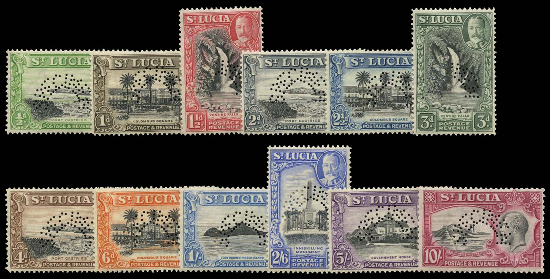 ST LUCIA 1936  SG113s/24s Specimen