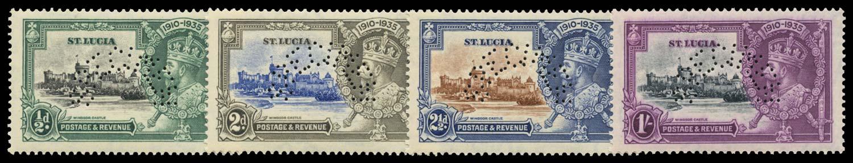 ST LUCIA 1935  SG109s/12s Specimen