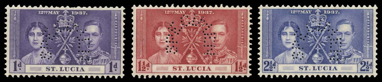 ST LUCIA 1937  SG125s/7s Specimen