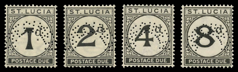ST LUCIA 1933-47  SGD3s/6s Specimen