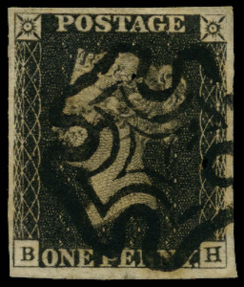 GB 1840  SG2 Pl.6 Penny Black