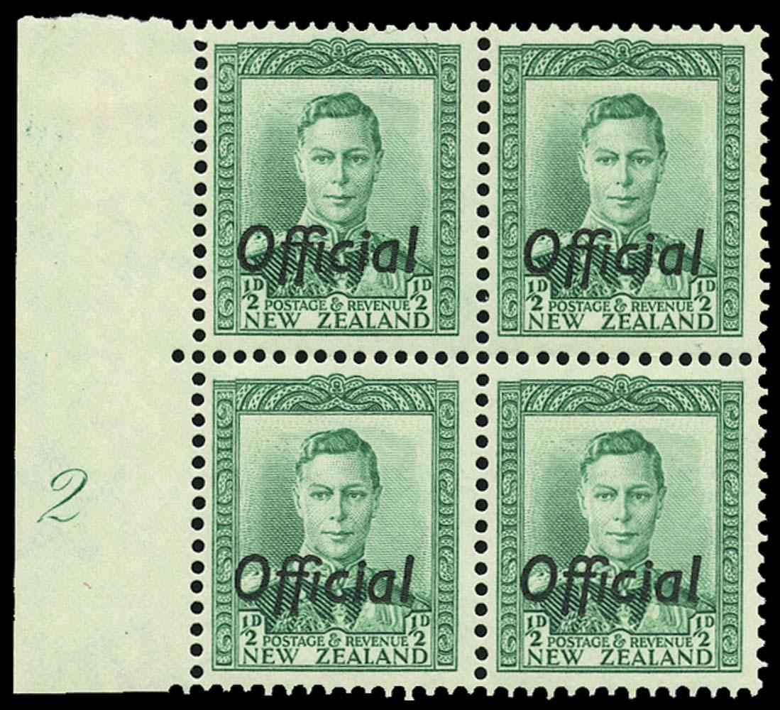 NEW ZEALAND 1938  SGO134 Official