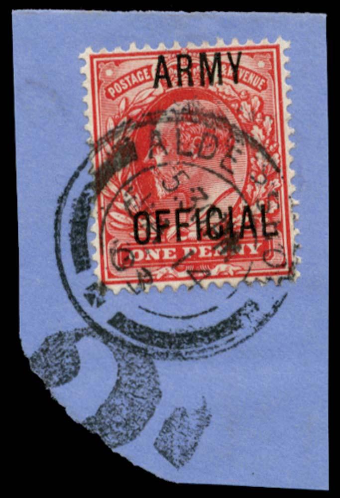 GB 1902  SGO49 Official Short