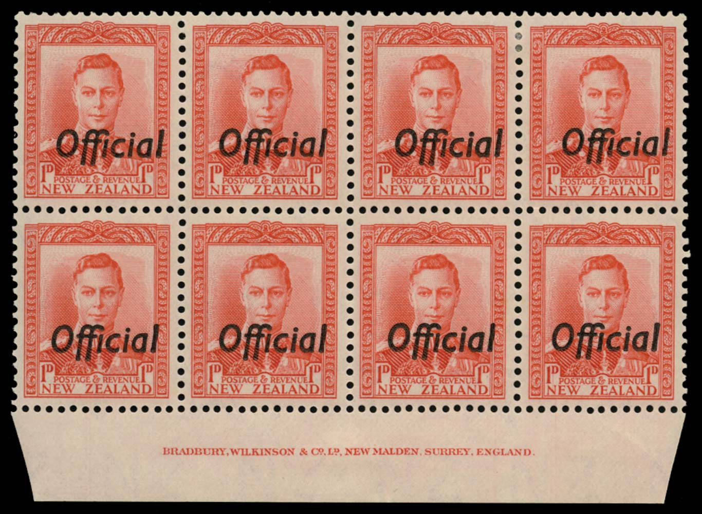 NEW ZEALAND 1938  SGO136 Official