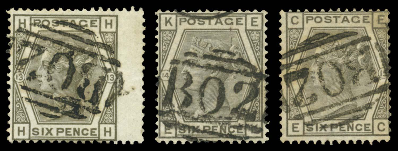 EGYPT 1874  SGZ68 Pl.13,14,15 Cancel