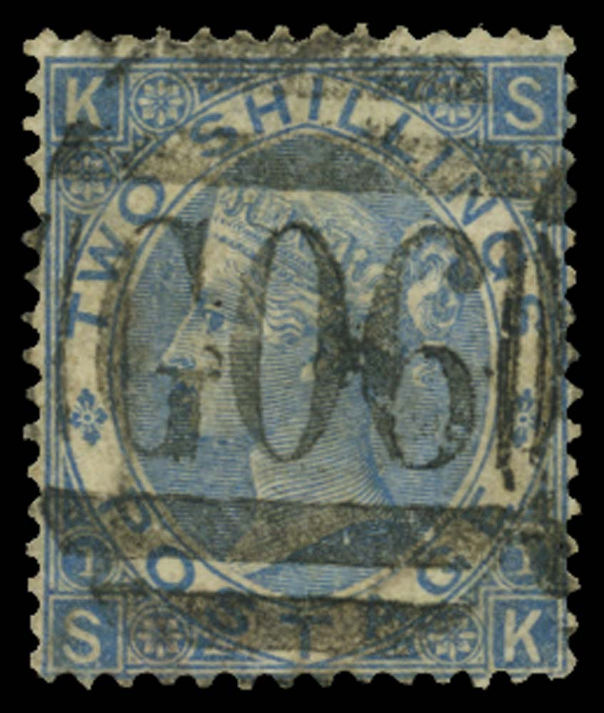 BRITISH LEVANT 1867  SGZ29 Pl.1 Cancel