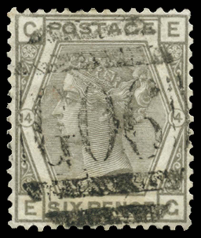 BRITISH LEVANT 1874  SGZ22 Pl.14 Cancel
