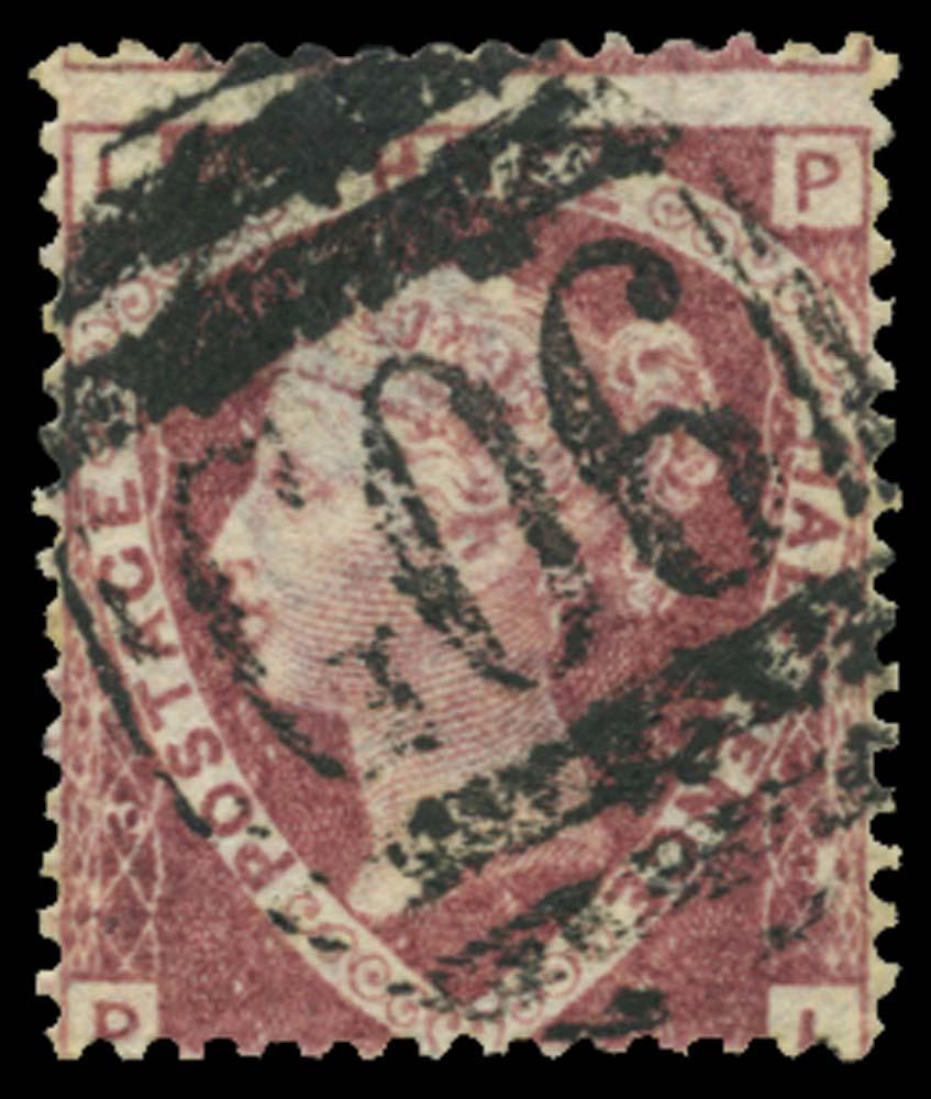 BRITISH LEVANT 1870  SGZ3 Pl.3 Cancel