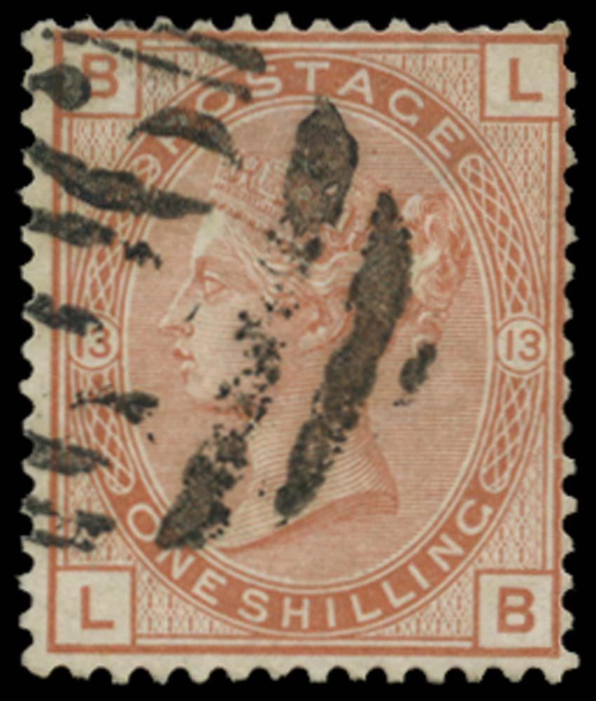 BRITISH LEVANT 1880  SGZ27 Pl.13 Cancel