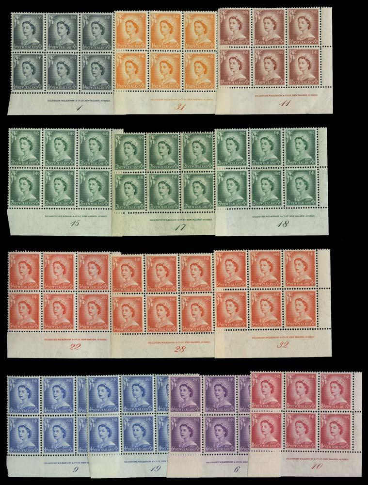 NEW ZEALAND 1953  SG723/30 Mint