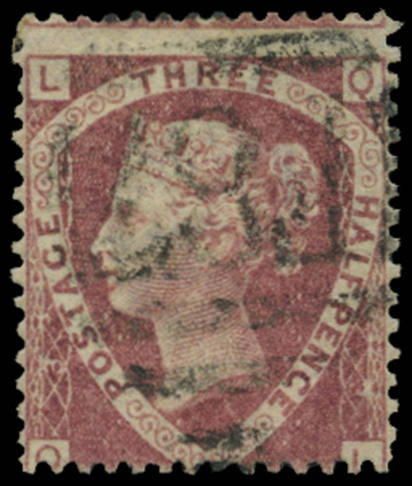 BRITISH LEVANT 1870  SGZ212 Pl.3 Cancel