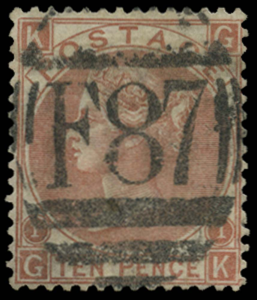 BRITISH LEVANT 1867  SGZ236 Pl.1 Cancel