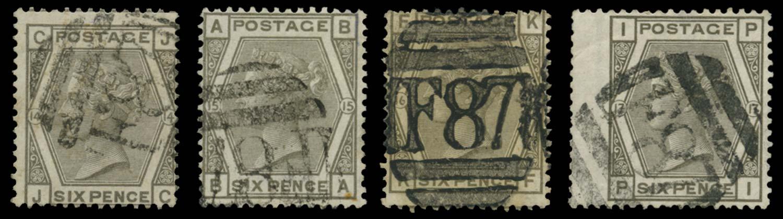 BRITISH LEVANT 1874  SGZ231 Pl.14,15,16,17 Cancel