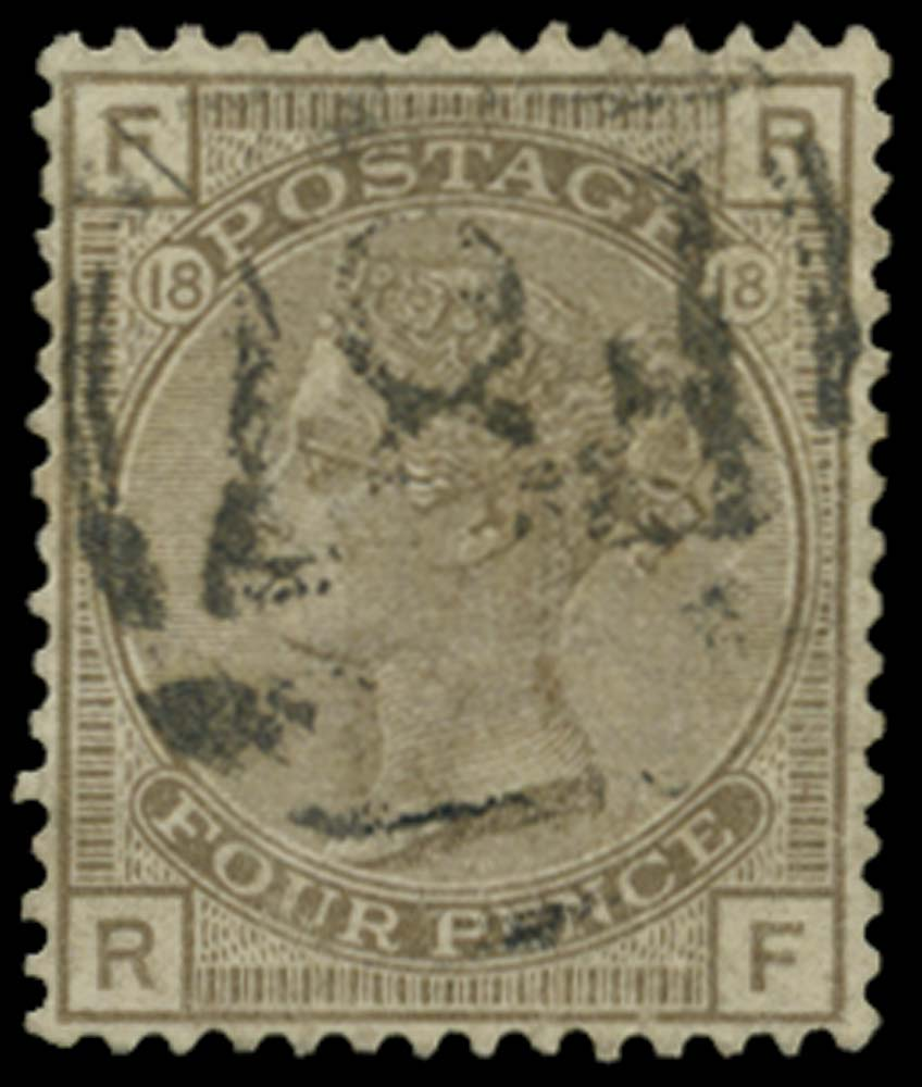 BRITISH LEVANT 1880  SGZ227 Pl.18 Cancel
