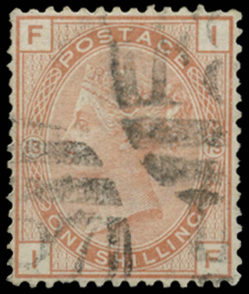 BRITISH LEVANT 1880  SGZ239 Pl.13 Cancel